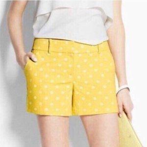 Ann Taylor Signature Yellow Polka Dot Shorts